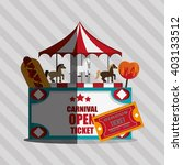 circus and carnival design ... | Shutterstock .eps vector #403133512
