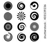 Spiral Elements Vector. Spiral...