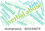 verbal abuse word cloud on a... | Shutterstock .eps vector #403144075