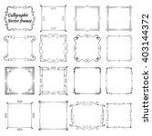 set of vintage calligraphic... | Shutterstock .eps vector #403144372
