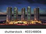 3d rendering   commercial and... | Shutterstock . vector #403148806