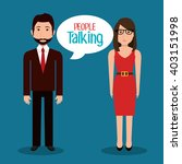 people talking design  | Shutterstock .eps vector #403151998