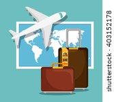 travel around the world design  | Shutterstock .eps vector #403152178