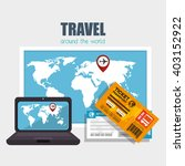travel around the world design  | Shutterstock .eps vector #403152922