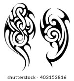 ethnic tattoo shape | Shutterstock .eps vector #403153816