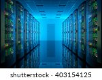 server room in data center.... | Shutterstock . vector #403154125