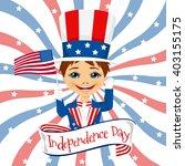 little boy celebrating united... | Shutterstock .eps vector #403155175