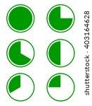 set of six green pie diagrams... | Shutterstock .eps vector #403164628