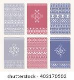 aztec design  set of cards....   Shutterstock .eps vector #403170502