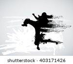 karate warrior | Shutterstock .eps vector #403171426