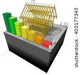 3d illustration of construction ... | Shutterstock . vector #403177345