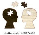 mental health symbol. human... | Shutterstock . vector #403177636
