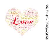 Love  Word Cloud Art  Background