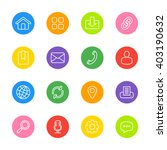 white line web icon set on... | Shutterstock .eps vector #403190632