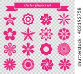 vector flowers icons set | Shutterstock .eps vector #403193758