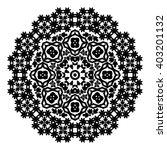 elegance hand drawn round black ... | Shutterstock .eps vector #403201132