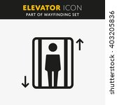 vector elevator icon. lift sign ... | Shutterstock .eps vector #403205836