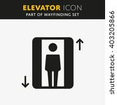 vector elevator icon. lift sign ... | Shutterstock .eps vector #403205866