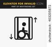 disability man pictogram flat... | Shutterstock .eps vector #403205872