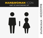 vector man and woman icons ... | Shutterstock .eps vector #403205998