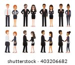 group of business men and... | Shutterstock .eps vector #403206682