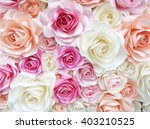 colorful rose made from paper | Shutterstock . vector #403210525