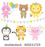 vector illustration of animals...   Shutterstock .eps vector #403211725