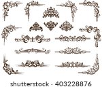 vector ornaments frames ... | Shutterstock .eps vector #403228876