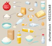 baking ingredients set  sugar ... | Shutterstock .eps vector #403232668