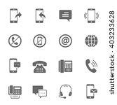 icon set   communication | Shutterstock .eps vector #403233628