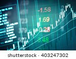stock market chart represent in ... | Shutterstock . vector #403247302