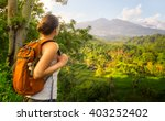 woman traveler looking at... | Shutterstock . vector #403252402