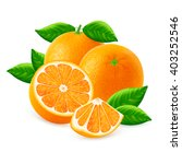 ripe oranges fruits and slices... | Shutterstock .eps vector #403252546