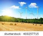Straw Bales With Wind Turbines...