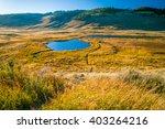 Lake In A Prairie Field In...
