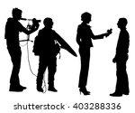 journalist news reporter... | Shutterstock .eps vector #403288336