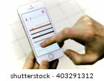 interactive screen. blur  bokeh ... | Shutterstock . vector #403291312
