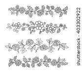 set of floral patterns for... | Shutterstock .eps vector #403302922