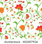 bright floral seamless pattern.  | Shutterstock .eps vector #403307926
