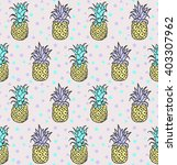 seamless pattern with... | Shutterstock .eps vector #403307962