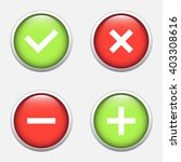 tick  cross  plus  minus icon... | Shutterstock .eps vector #403308616