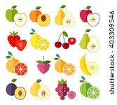 set of flat design icons for... | Shutterstock .eps vector #403309546