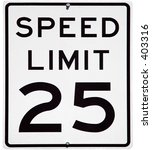 Speed Limit 25 Mph Sign ...