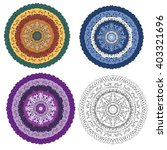 mandala round ornament  tribal...   Shutterstock .eps vector #403321696