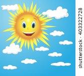vector sun character | Shutterstock .eps vector #403322728