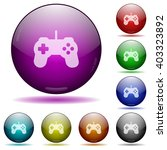 set of color game controller...