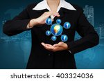 businessman  show innovation... | Shutterstock . vector #403324036