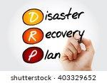hand writing drp   disaster... | Shutterstock . vector #403329652