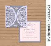wedding invitation or greeting... | Shutterstock .eps vector #403331926