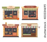 shops and stores icons set in... | Shutterstock .eps vector #403334695